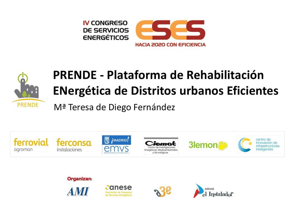 Mª Teresa de Diego Fernández PRENDE - Plataform...
