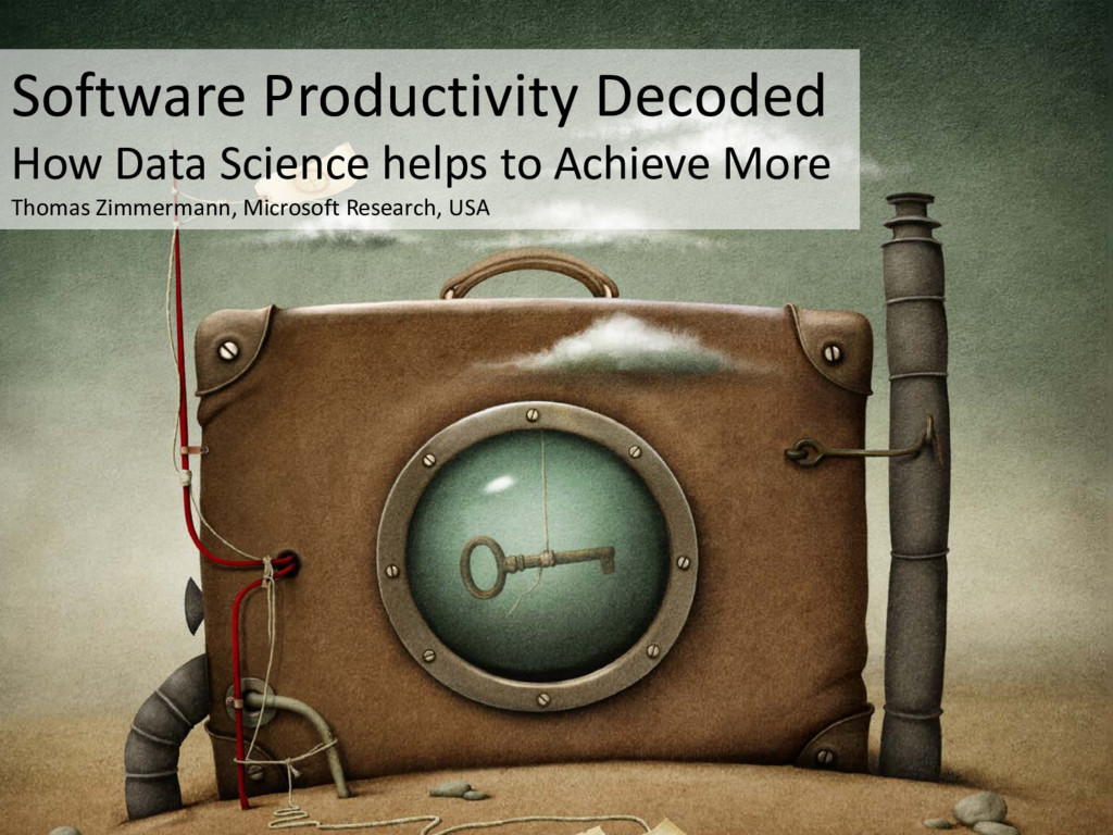 © Microsoft Corporation Software Productivity D...
