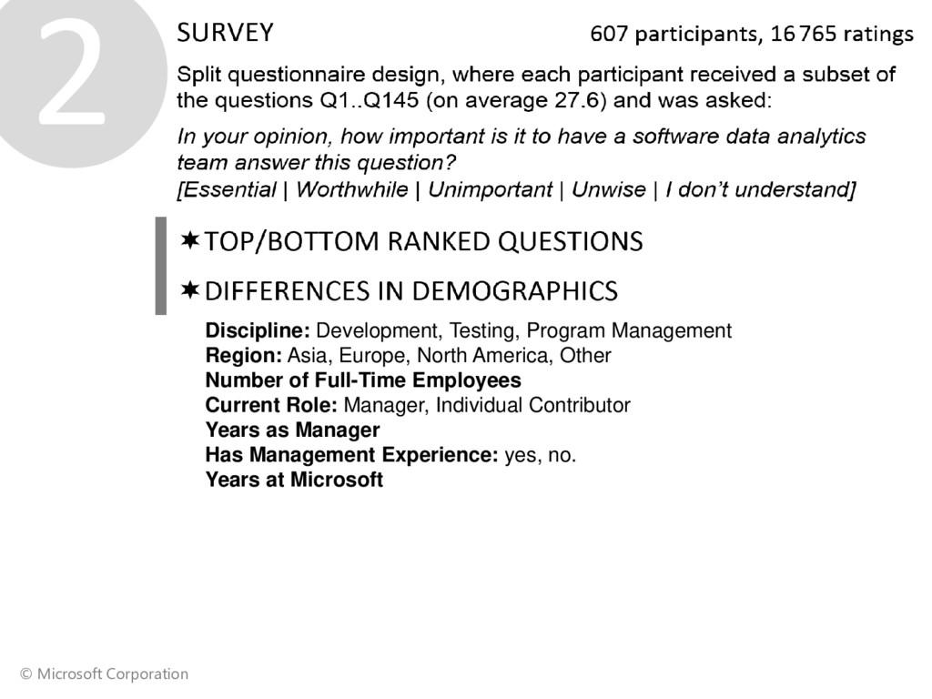 © Microsoft Corporation ❷ Discipline: Developme...