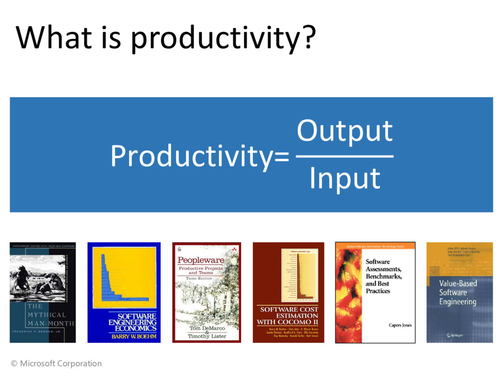 © Microsoft Corporation What is productivity? P...