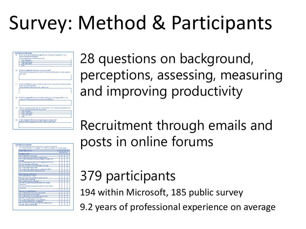 © Microsoft Corporation Survey: Method & Partic...
