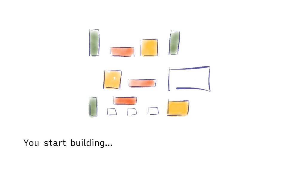 You start building…