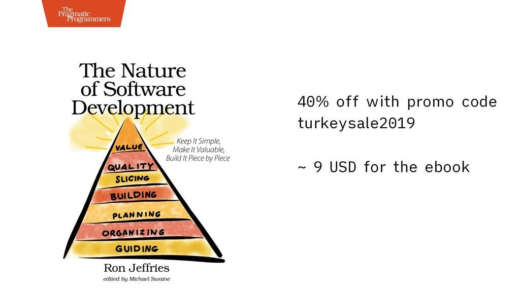 40% off with promo code turkeysale2019 ~ 9 USD ...