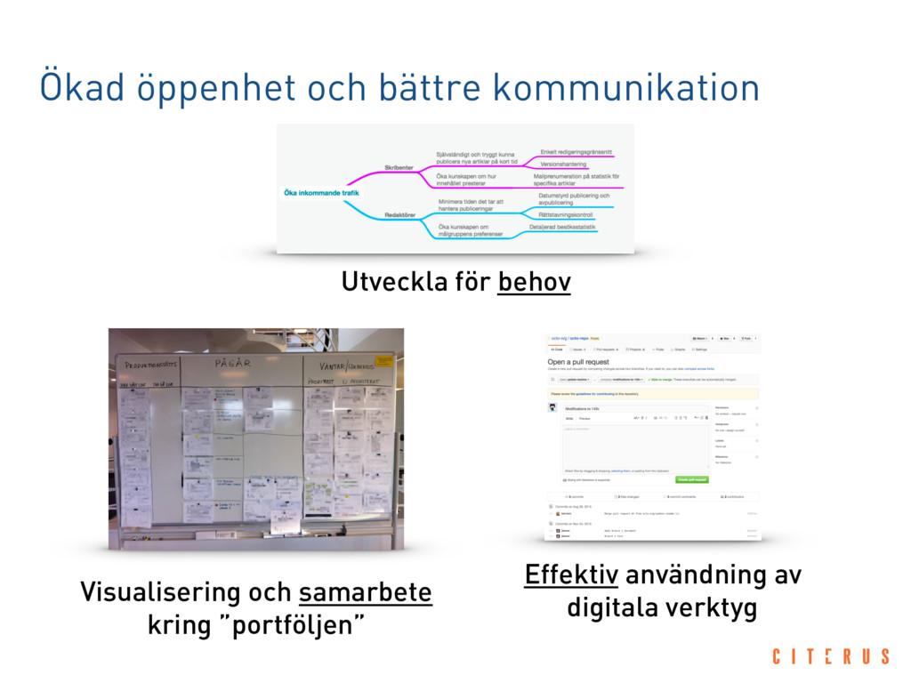 Ökad öppenhet och bättre kommunikation Visualis...