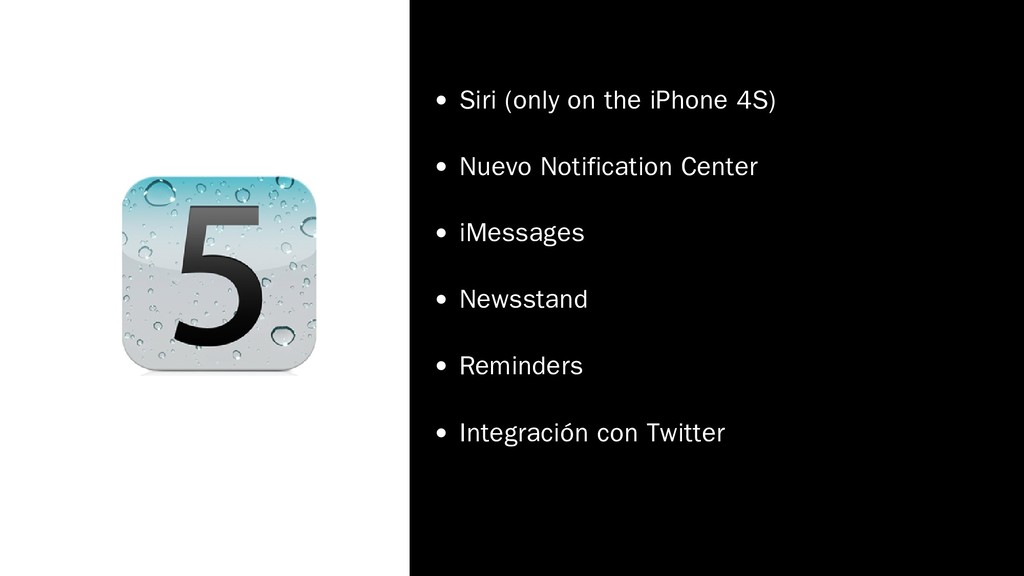 Siri (only on the iPhone 4S) Nuevo Notification...