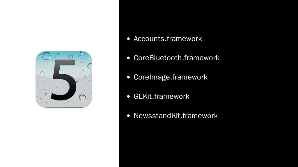 Accounts.framework CoreBluetooth.framework Core...