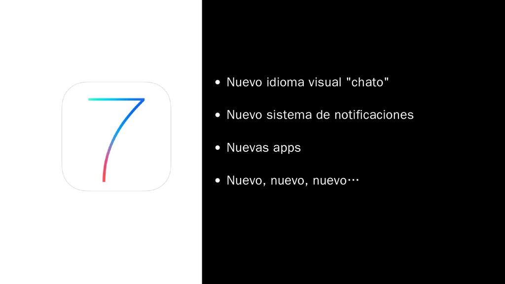 "Nuevo idioma visual ""chato"" Nuevo sistema de no..."