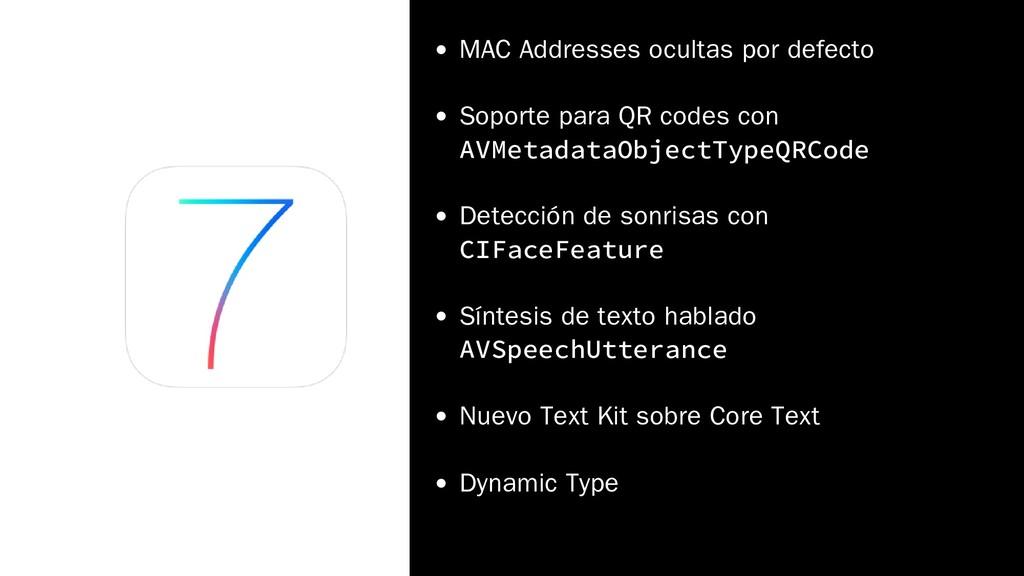 MAC Addresses ocultas por defecto Soporte para ...