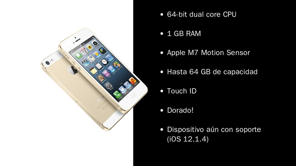 64-bit dual core CPU 1 GB RAM Apple M7 Motion S...