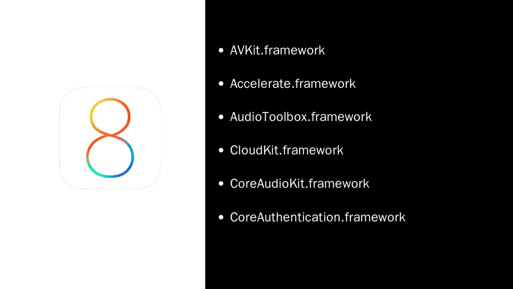 AVKit.framework Accelerate.framework AudioToolb...