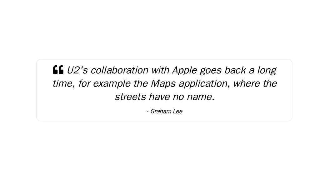  U2's collaboration with Apple goes back a lon...