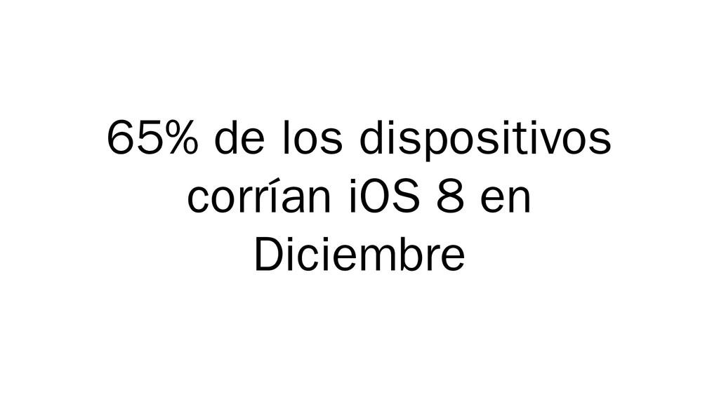 65% de los dispositivos corrían iOS 8 en Diciem...