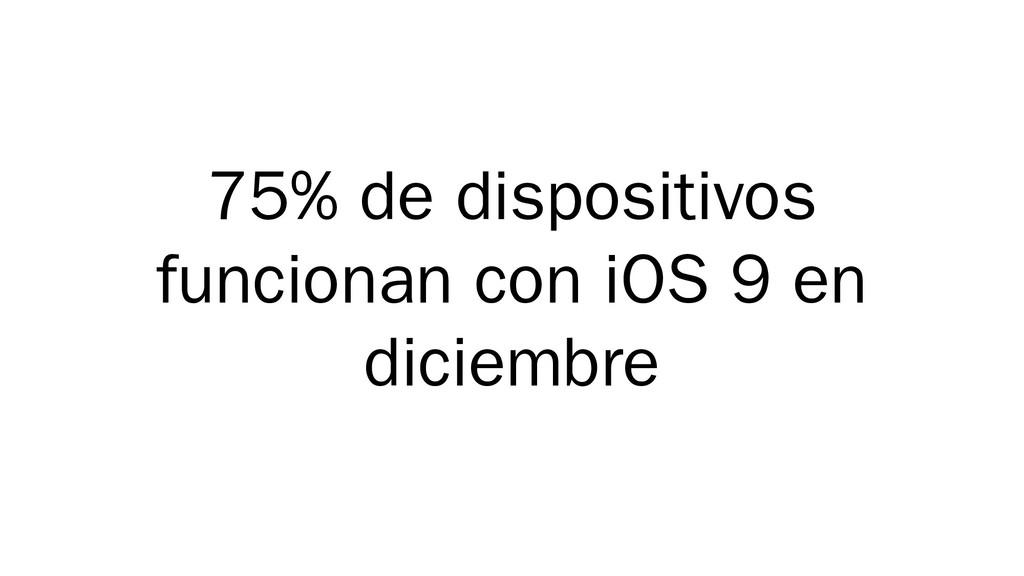 75% de dispositivos funcionan con iOS 9 en dici...