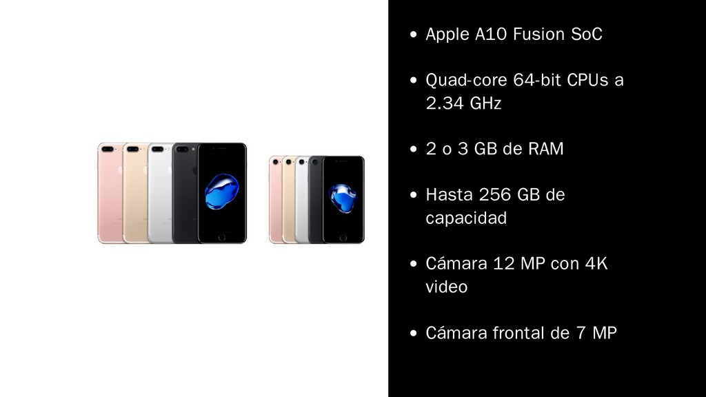 Apple A10 Fusion SoC Quad-core 64-bit CPUs a 2....