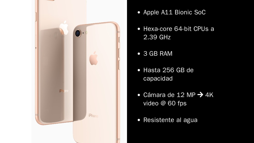 Apple A11 Bionic SoC Hexa-core 64-bit CPUs a 2....