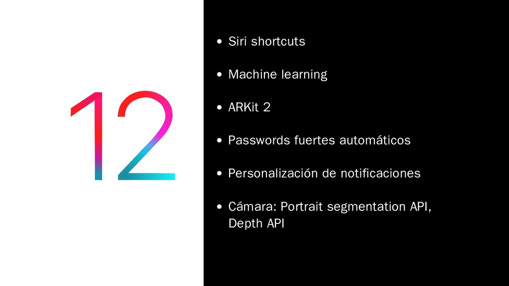 Siri shortcuts Machine learning ARKit 2 Passwor...