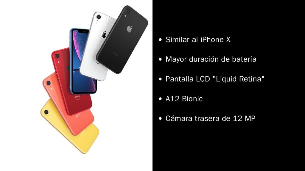 Similar al iPhone X Mayor duración de batería P...