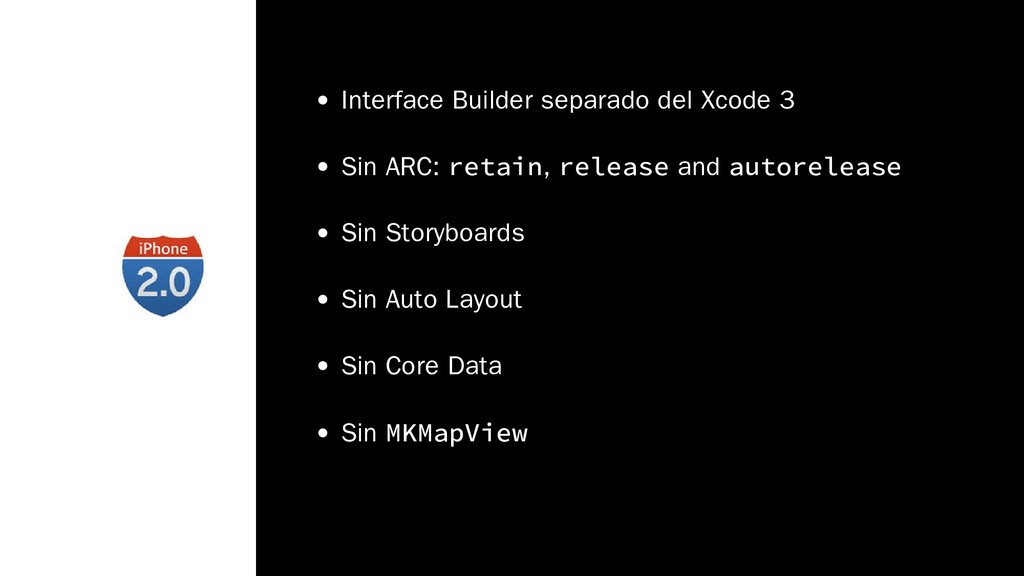 Interface Builder separado del Xcode 3 Sin ARC:...