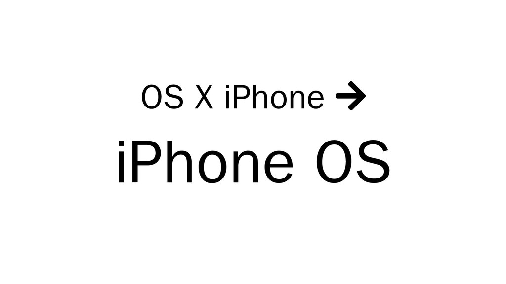 OS X iPhone  iPhone OS