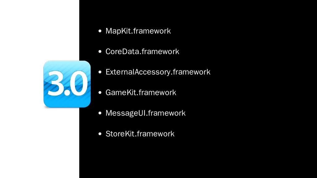 MapKit.framework CoreData.framework ExternalAcc...