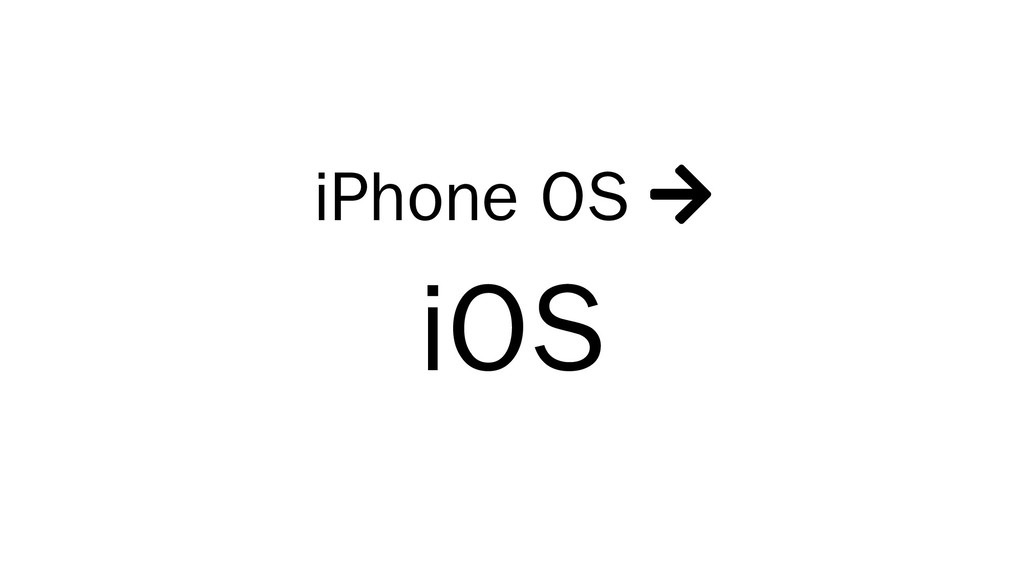 iPhone OS  iOS