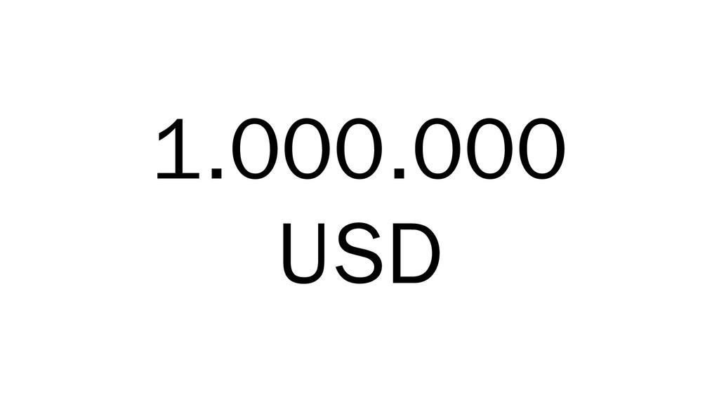 1.000.000 USD