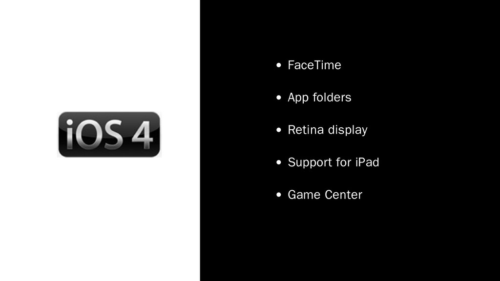 FaceTime App folders Retina display Support for...