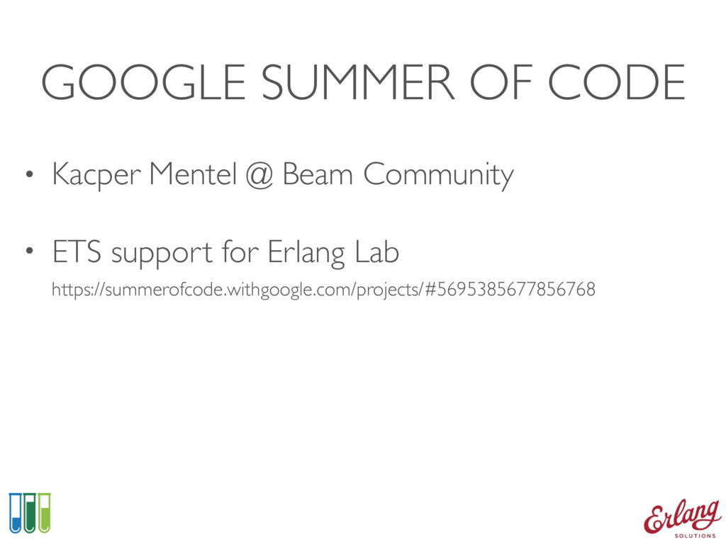 GOOGLE SUMMER OF CODE • Kacper Mentel @ Beam Co...