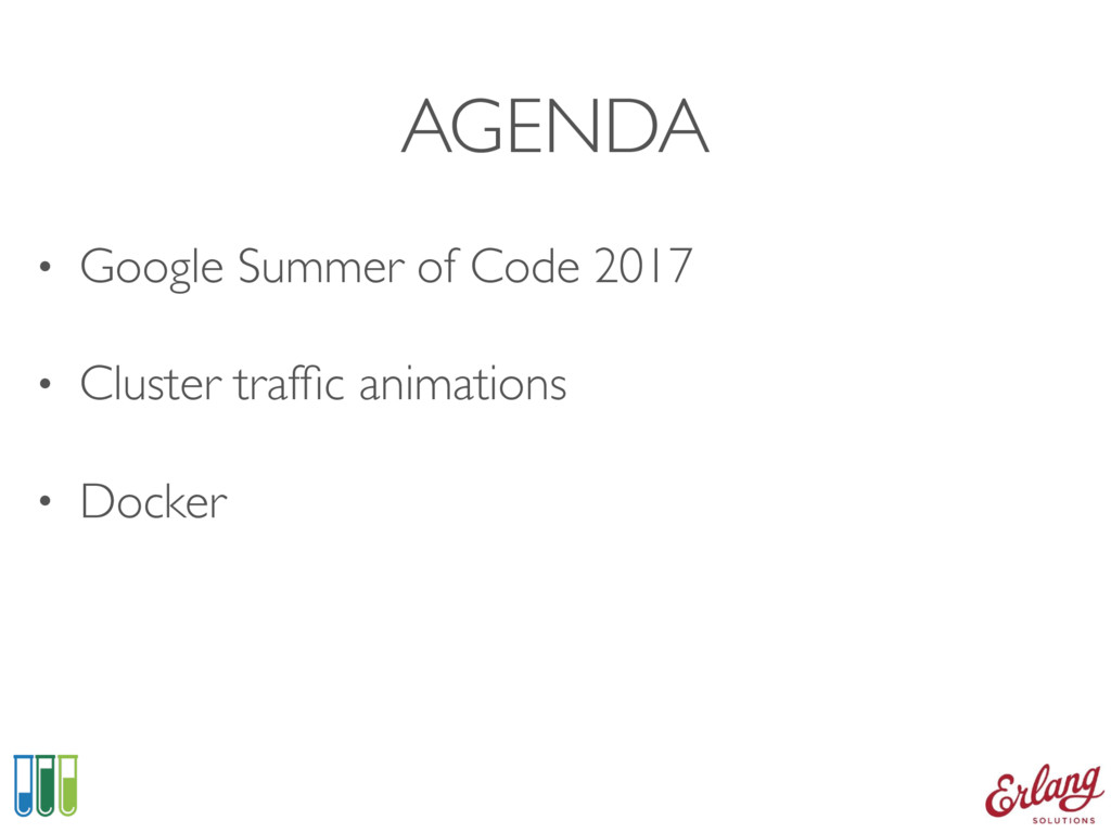 AGENDA • Google Summer of Code 2017 • Cluster t...