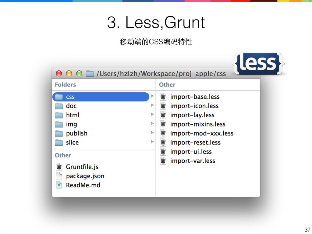 !37 3. Less,Grunt 移动端的CSS编码特性