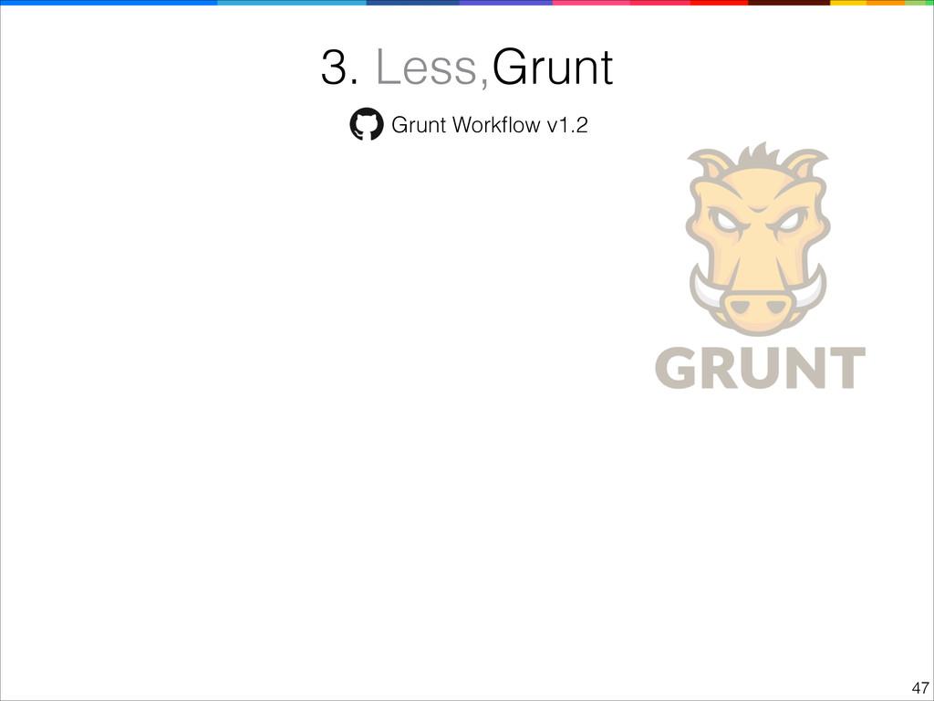 !47 3. Less,Grunt Grunt Workflow v1.2