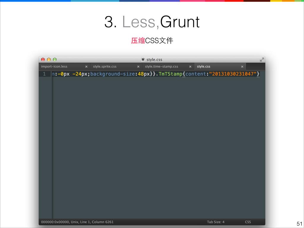 !51 3. Less,Grunt 压缩CSS⽂文件