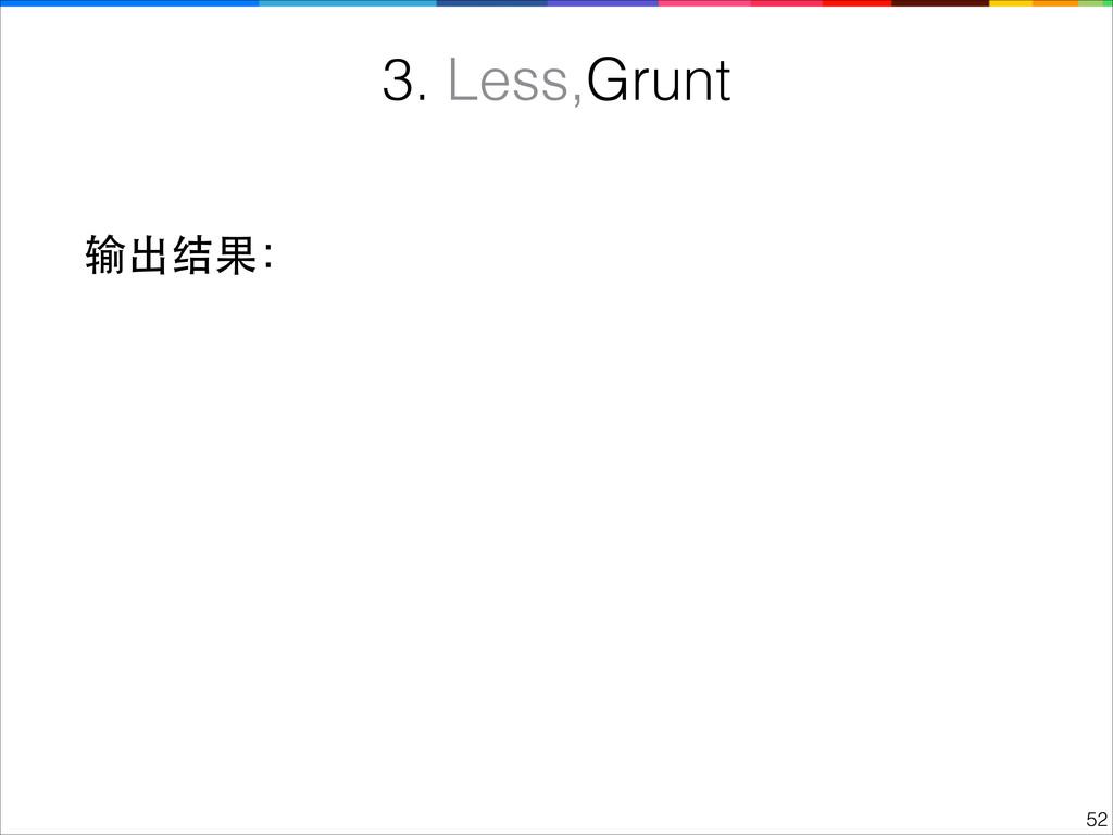 !52 3. Less,Grunt 输出结果: