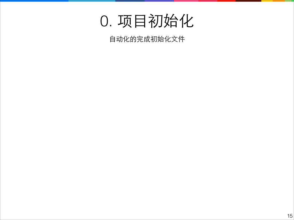 0. 项⺫⽬目初始化 !15 ⾃自动化的完成初始化⽂文件