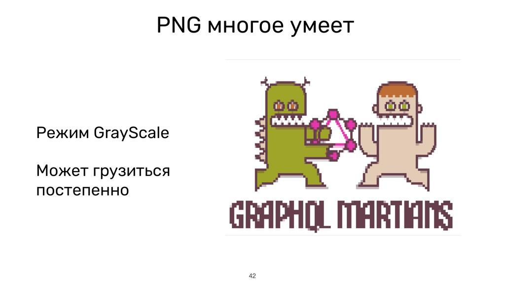 PNG многое умеет Режим GrayScale Может грузитьс...