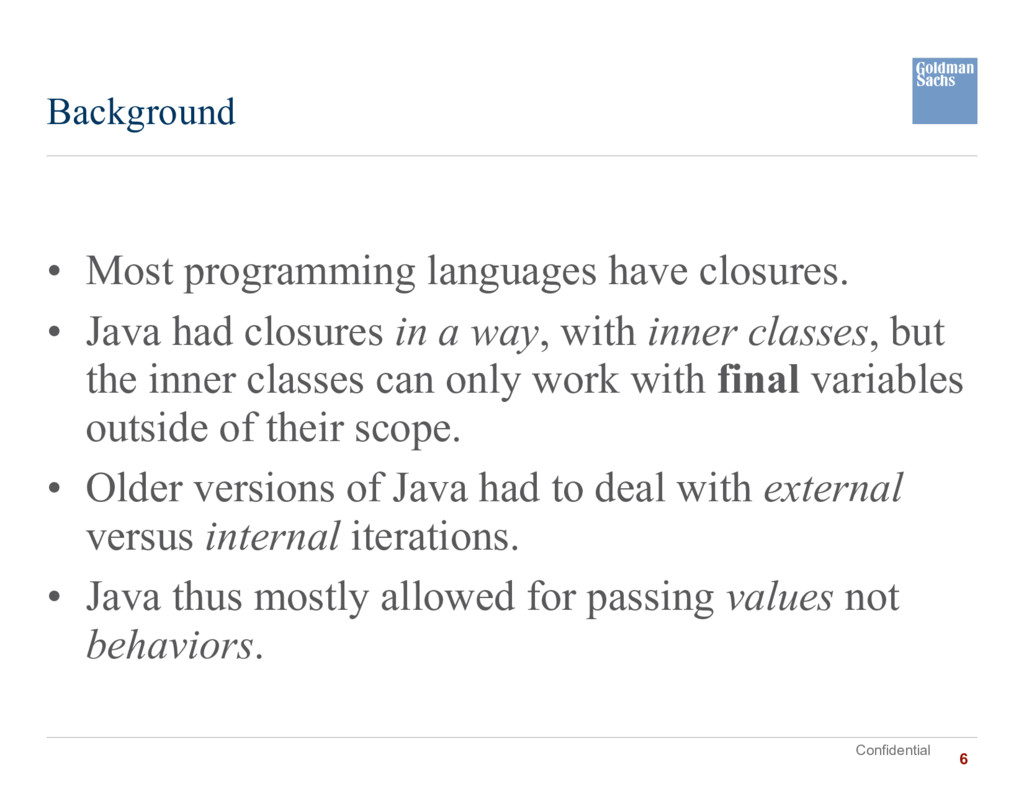 Confidential • Most programming languages have ...