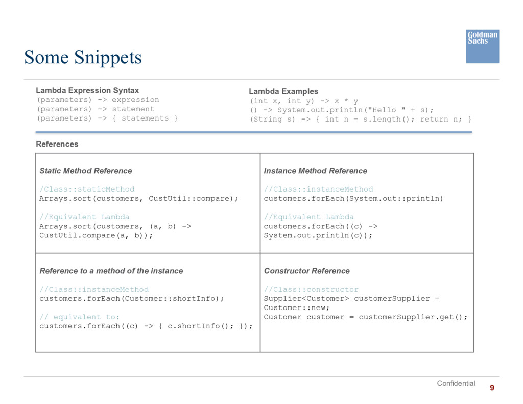 Confidential Some Snippets Lambda Expression Sy...