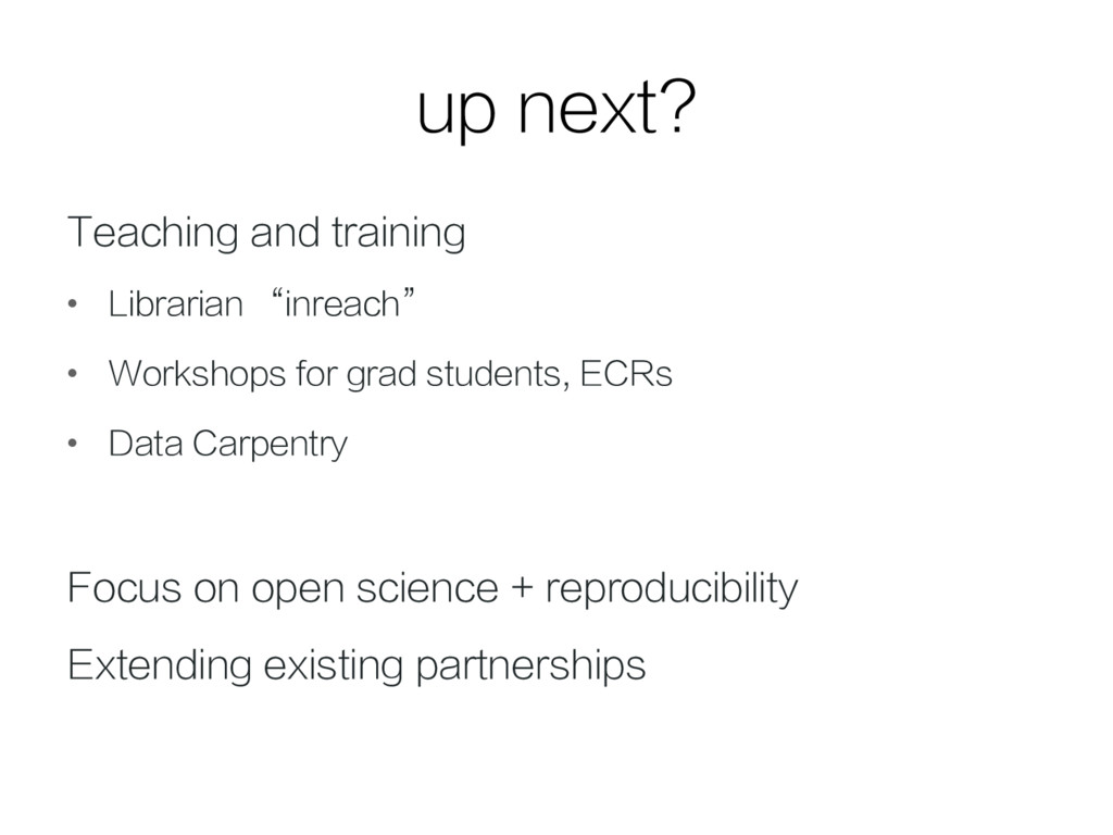 """up next? Teaching and training • Librarian """"in..."""