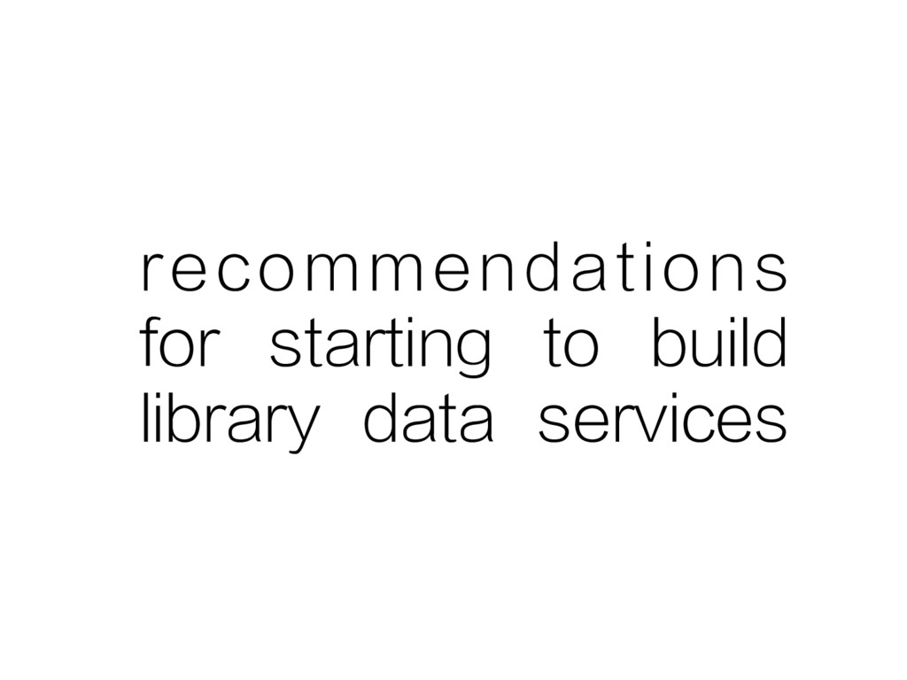recommendations for starting to build library d...
