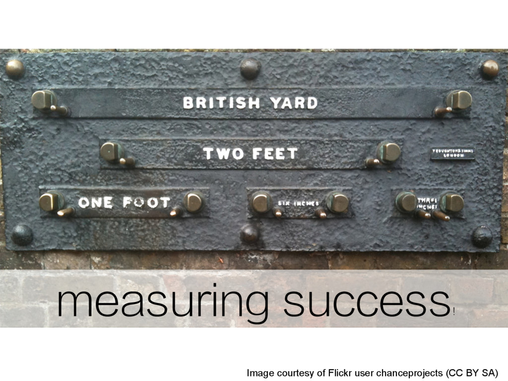 measuring success ! Image courtesy of Flickr us...