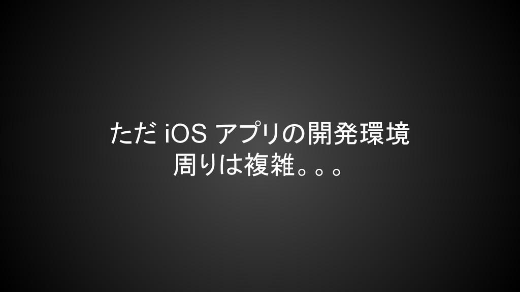 ただ iOS アプリの開発環境 周りは複雑。。。