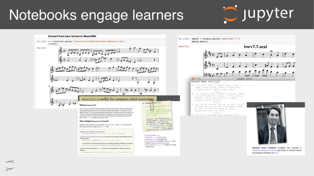 Notebooks engage learners