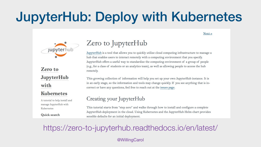 @WillingCarol JupyterHub: Deploy with Kubernete...
