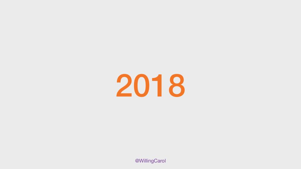 @WillingCarol 2018