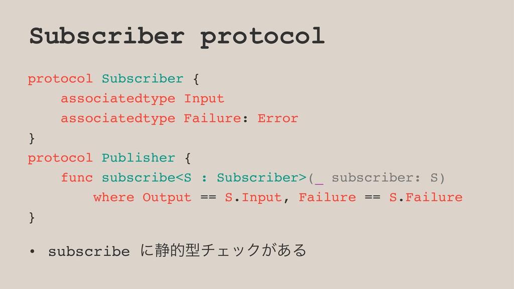 Subscriber protocol protocol Subscriber { assoc...