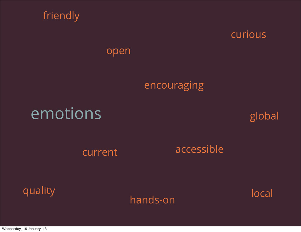 emotions encouraging open curious friendly curr...