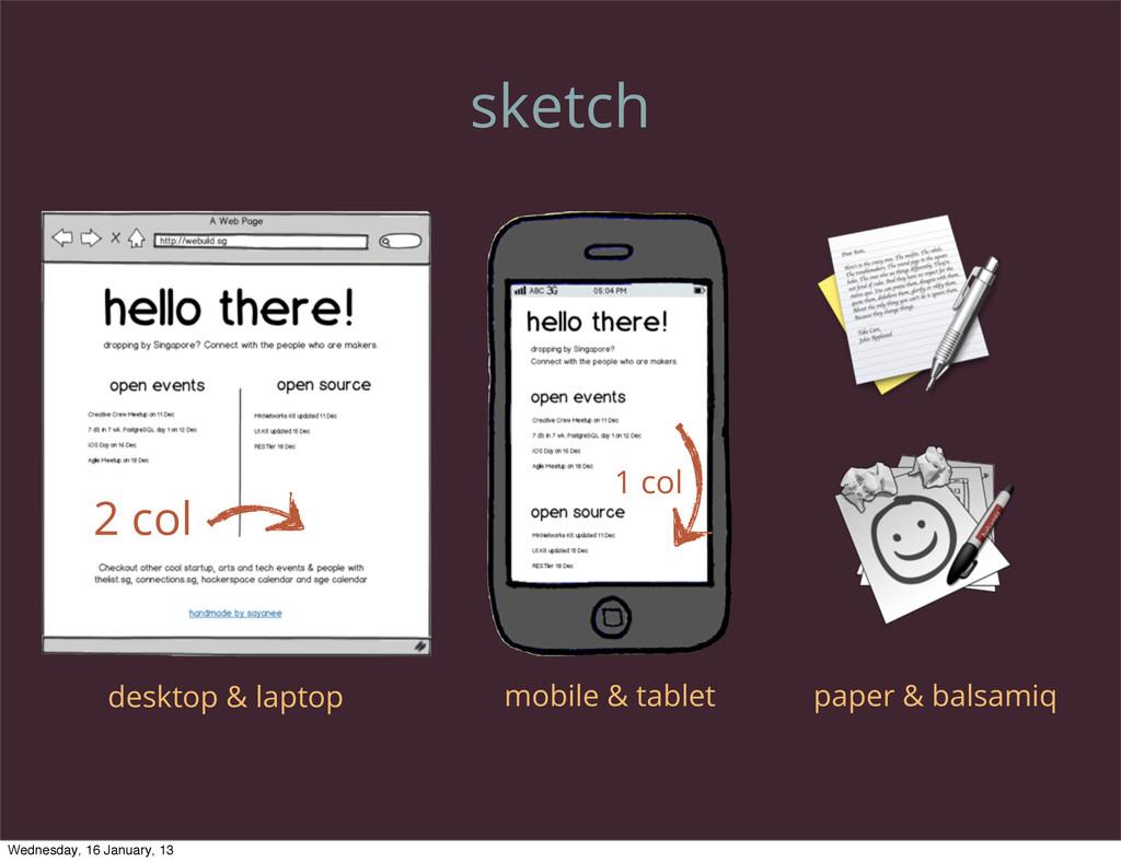 sketch desktop & laptop mobile & tablet paper &...