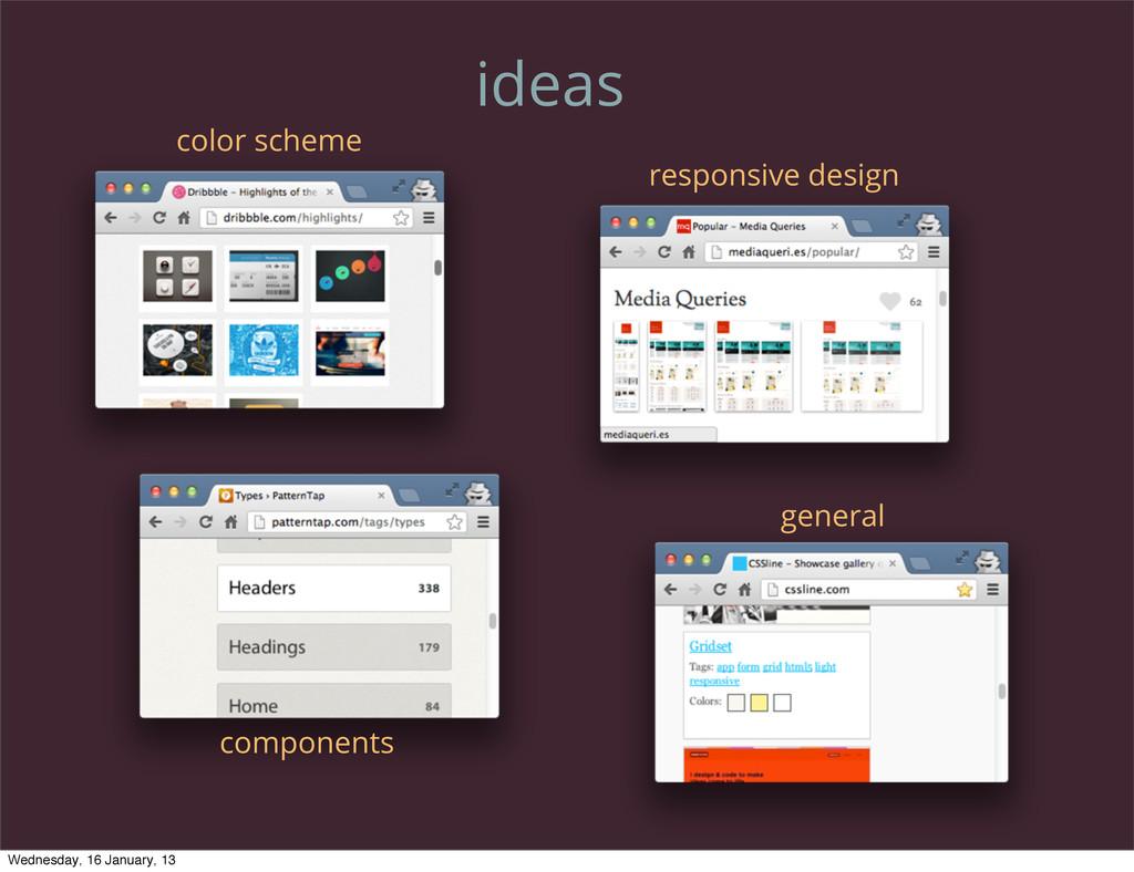 ideas components color scheme responsive design...