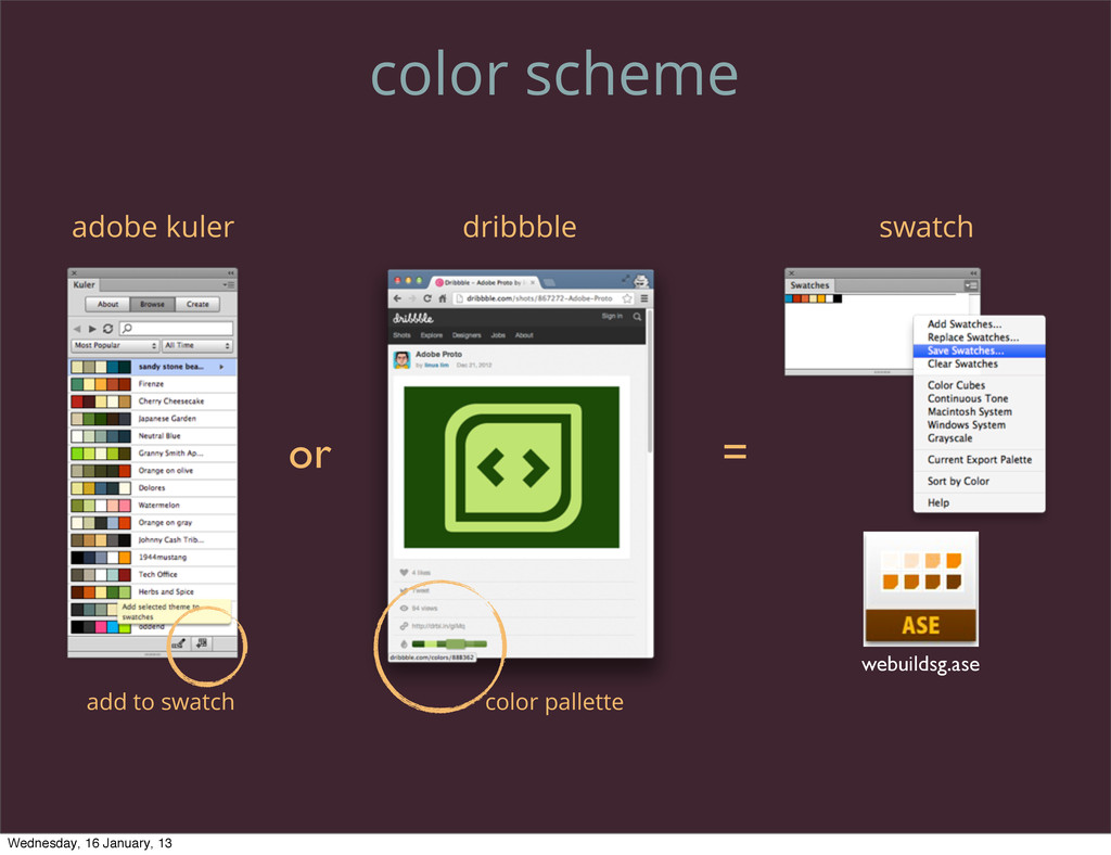 color scheme adobe kuler dribbble or = swatch w...