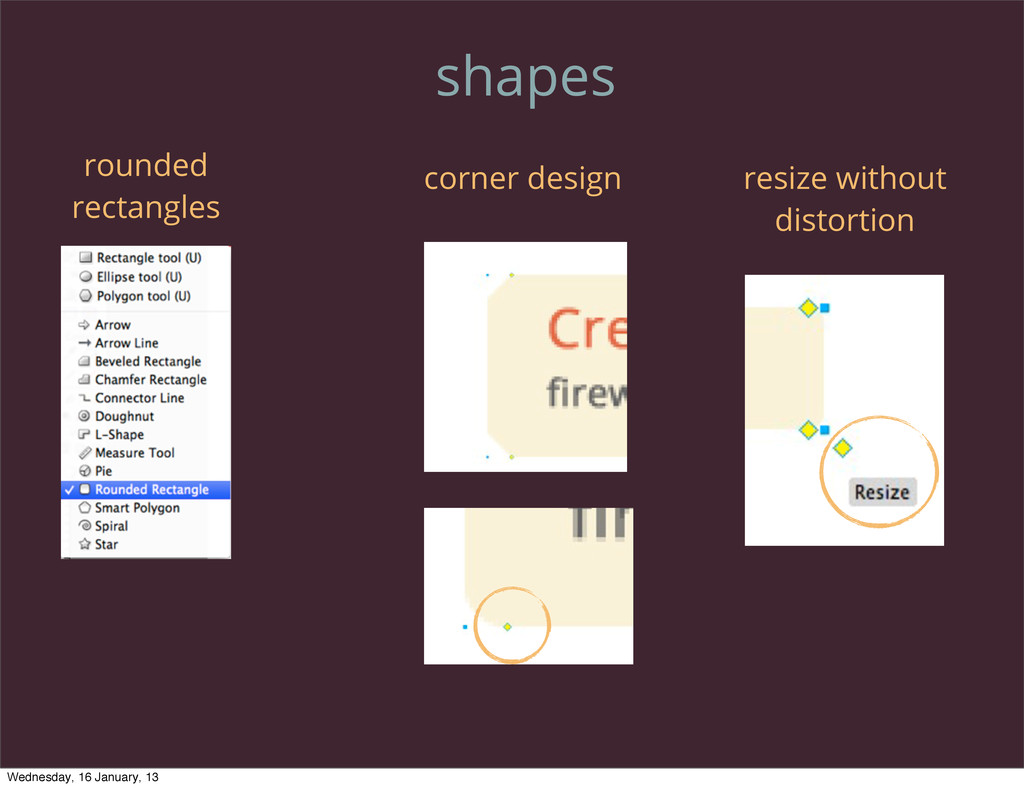 shapes rounded rectangles corner design resize ...
